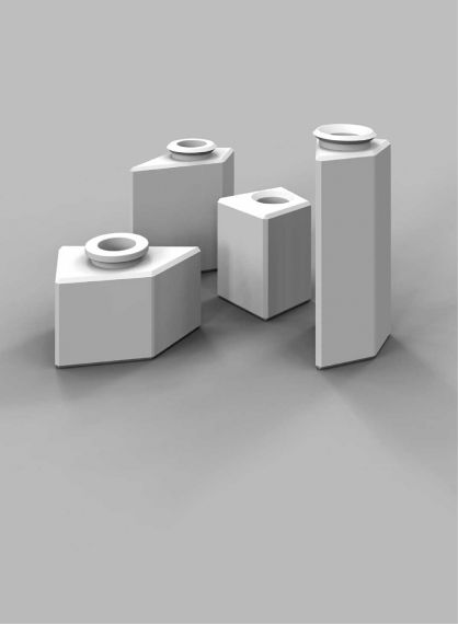 Non Square Vases Khatt Items
